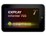 Планшет Explay Informer 705, ARM Cortex A8 1.0 ГГц, 7, 512 MB, 4 GB NAND, Mali-400 MP, Google Android, черный Explay...